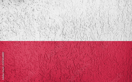 Fototapety Polska the-texture-of-poland-flag-on-the-wall-of-the-plaster