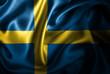 canvas print picture Sweden Silk Satin Flag