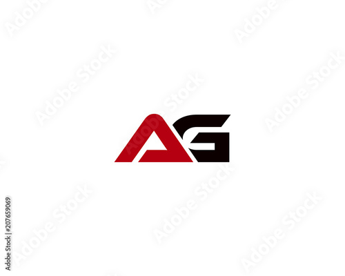 Photo ag letter logo
