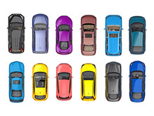 Group Of Cars On Top View Isol...