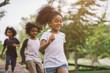 Leinwanddruck Bild - kids playing outdoors