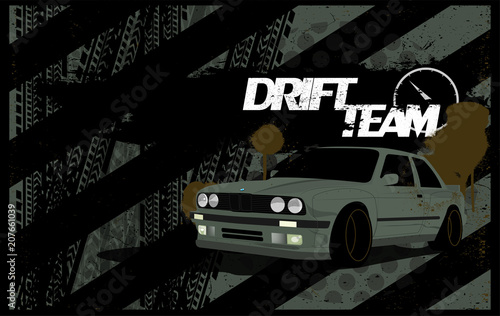Photo  Abstract Car Background in Grunge Style