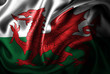canvas print picture Wales Silk Satin Flag