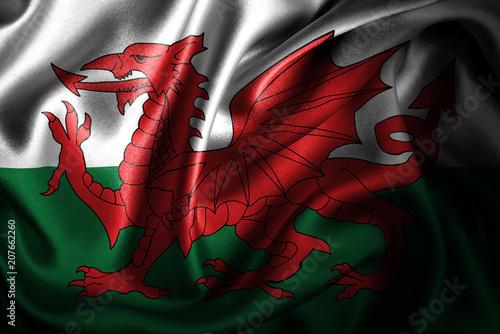 Obraz na plátně Wales Silk Satin Flag