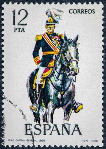 Poster  stamp printed in Spain shows Captain General 1925