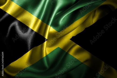 Jamaica Silk Satin Flag Wallpaper Mural