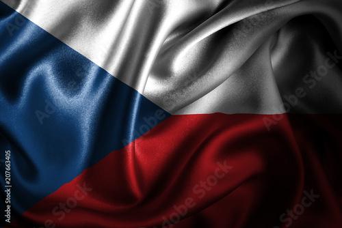 Czech Republic Silk Satin Flag Poster