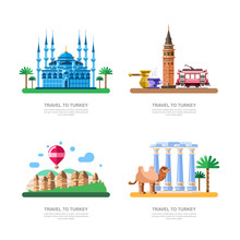 Travel To Turkey Design Elemen...