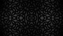 Black Background With Celtic D...