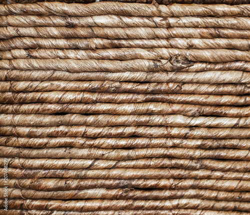 Background of closeup of woven wather hyacinth fiber (Eichhornia crassipes) Canvas Print