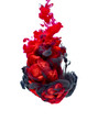 paint in water color liquid red black