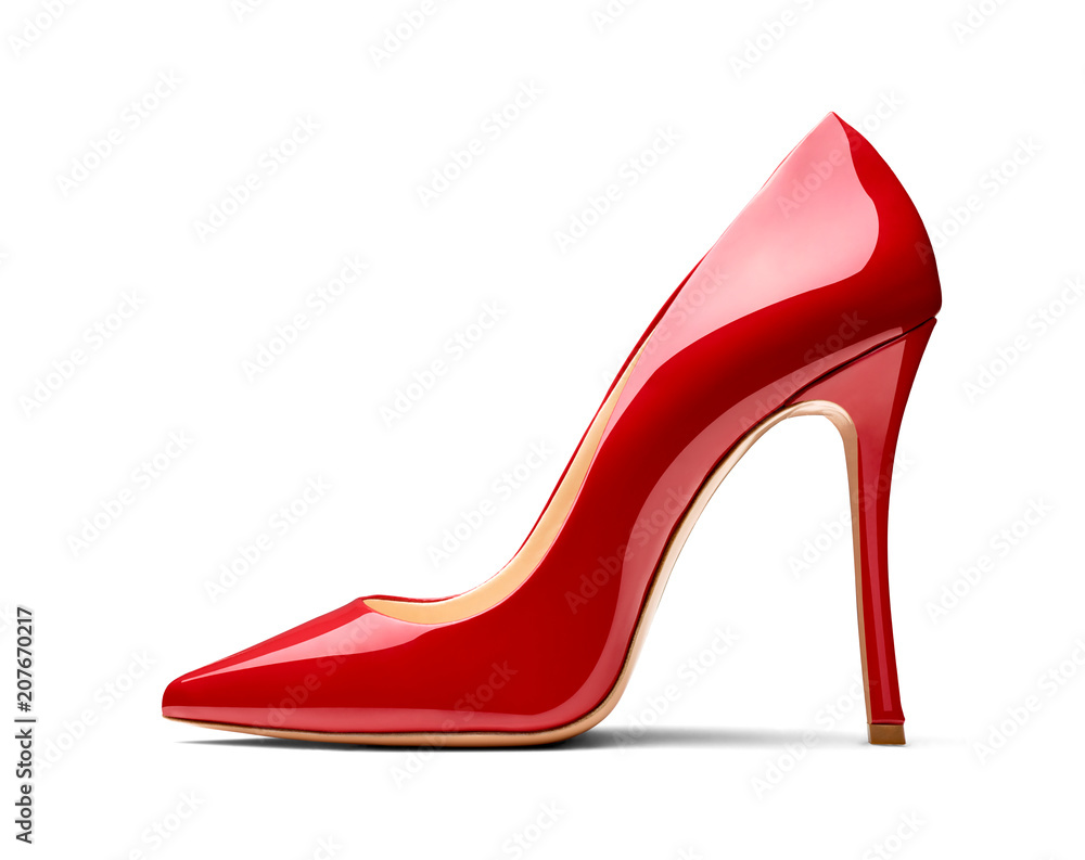 Fototapeta red high heel footwear fashion female style
