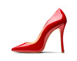 canvas print picture - red high heel footwear fashion female style