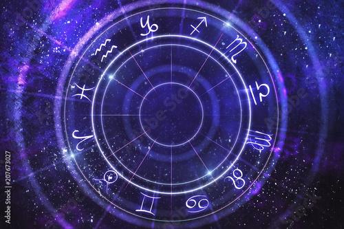 Abstract zodiac wheel backdrop © peshkov