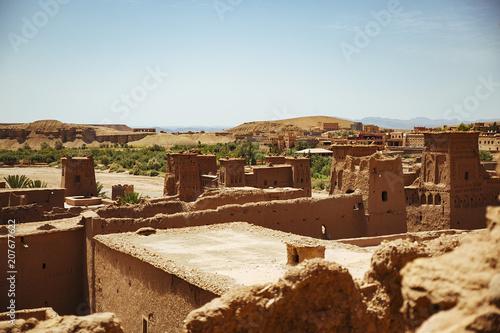 Foto op Plexiglas Marokko Cityscape of Ouarzazate in Atlas mountains