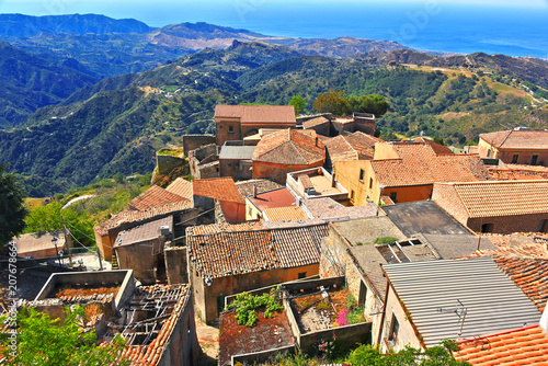 Fototapeta  The village of Bova in the Province of Reggio Calabria, Italy