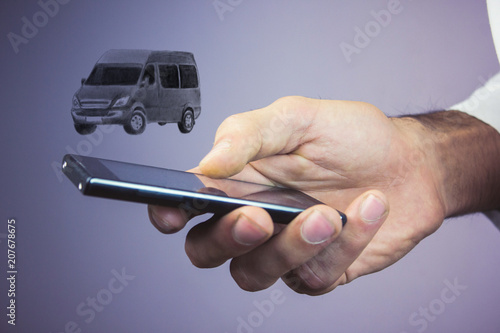Fotografie, Obraz  cargo transportation with minibus