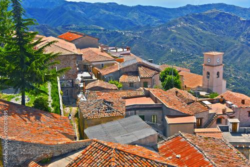 Obraz na plátně  The village of Bova in the Province of Reggio Calabria, Italy