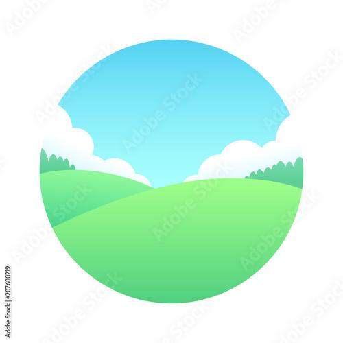 Fotobehang Wit Summer meadow landscape