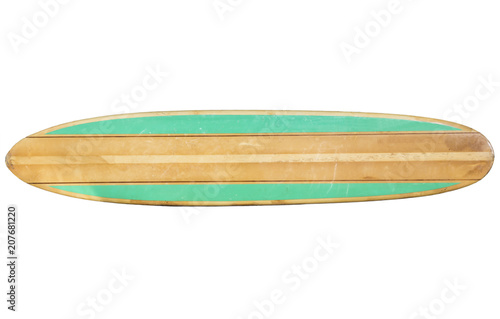 Fotografia, Obraz  Vintage Surfboard Isolated on white