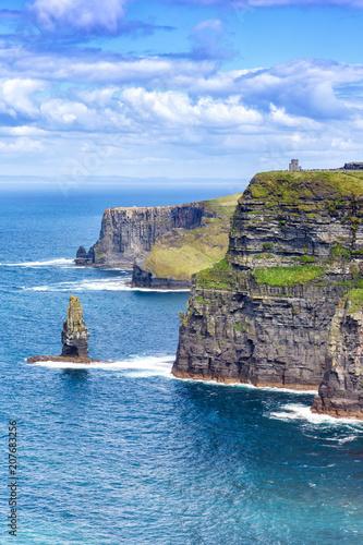 Fotografía Irland Cliffs of Moher Klippen Reise reisen Landschaft Meer Tourismus Hochformat