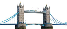 Tower Bridge In London Isolate...