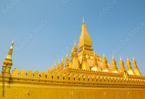 Fotografia  Pha That Luang, a landmark of Vientiane