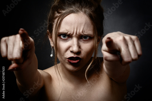 Fotografie, Obraz  angry young woman