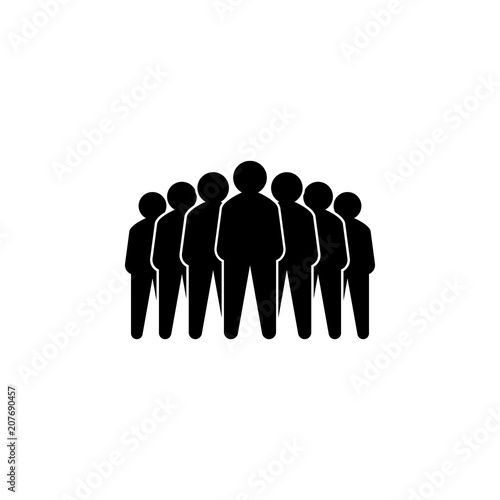 Representative of a group of people, leadership vector illustration concept Canvas Print
