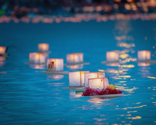 Floating Prayer Lanterns In Wa...