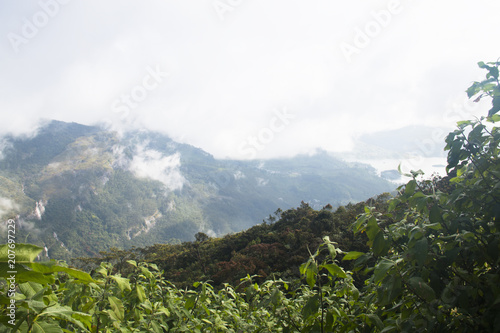 Spoed Foto op Canvas Wit Landscape around Adam's Peak in Sri Lanka.
