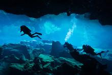 Underwater Cave In Chak Mool Cenote