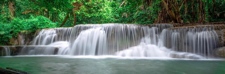 Fototapeta Wodospad Beautiful waterfall panoramic landscape in Thailand