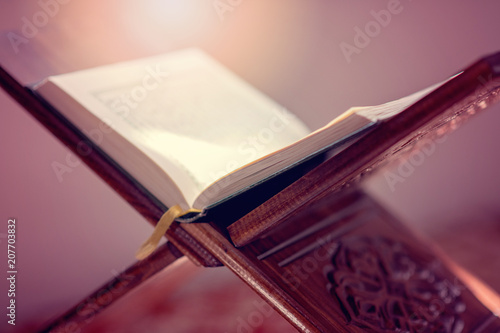 Obraz na plátně  Koran - holy book of Muslims public item of all muslims in mosque