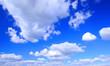 Leinwandbild Motiv Blue sky background with cloud.