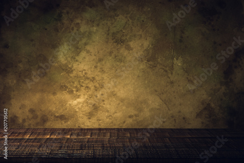 Poster Retro wood floor and old paper vintage aged background or texture