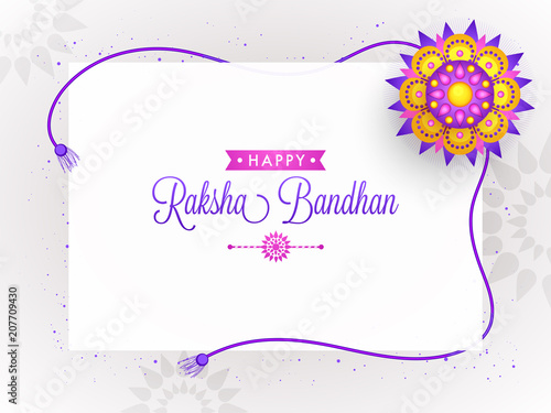 Rakhi, Indian brother and sister festival Raksha Bandhan concept. Canvas Print