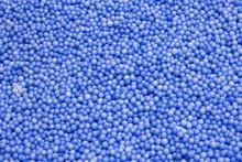 Small Blue Polysterene Balls Background