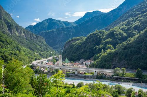 Alpe Adria cycle path, Dogna,  Italy Canvas Print