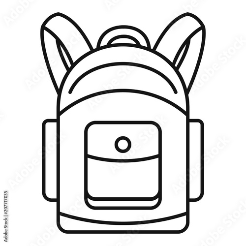 Obraz Backpack icon. Outline illustration of backpack vector icon for web design isolated on white background - fototapety do salonu