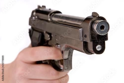 Finger on trigger Canvas Print