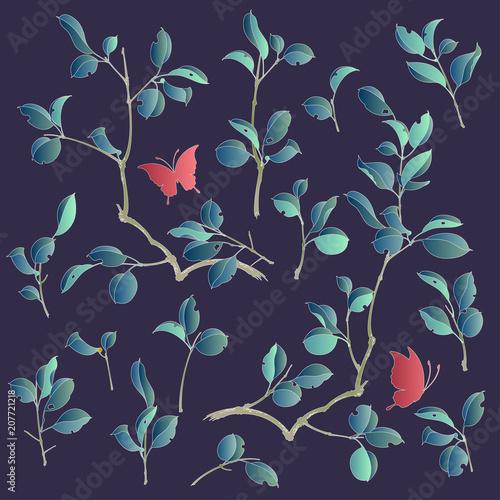 Foto  日本的な植物のイラスト,