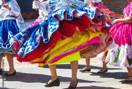 Spoed Foto op Canvas Zuid-Amerika land Peruvian dance