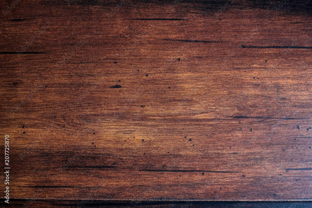 Fototapety, obrazy: Brown scratched wooden cutting board. Wood texture. Wood background.