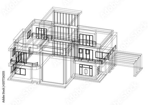 House architect design blueprint isolated buy this stock house architect design blueprint isolated malvernweather Gallery
