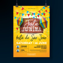 Festa Junina Party Flyer Illus...