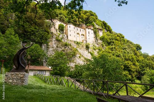 Foto op Plexiglas Europese Plekken Greccio, Italy. hermitage shrine erected by St. Francis of Assisi