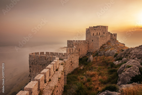 Castle Snake in Adana, Turkey. Old castle ruins. Canvas Print