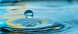 Leinwanddruck Bild - water drop splash