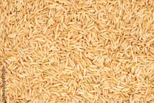 the organic brown rice texture background